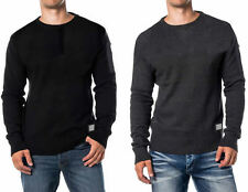 Mens Jumper Brave Soul 'Dynamic' Knit Crew Neck Sweater New Knitted 100 % Cotton