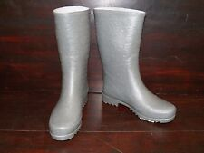 New Womens UGG Wilshire Logo Short Charcoal Grey Rain Winter Boots Rubber