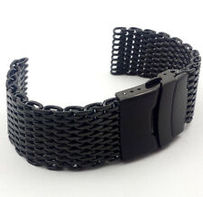 4mm Thick Shark Mesh Watch Band ~PVD~ Stainless Breitling Omega Seiko 20 22 24