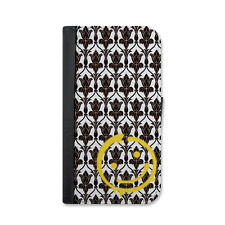 Sherlock Wallpaper Bored Smiley Wallet Case For iPhone 6 or iPhone 6 Plus