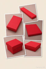 RED CARDBOARD GIFT / JEWELLERY BOXES - FLOCK PAD INSERT - WHOLESALE