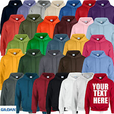 Mens Ladies Womens Adults Personalised Plain Custom Printed Hoodie Hoody Gildan