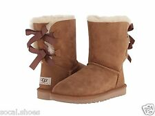 UGG AUSTRALIA WOMEN'S SHOES BAILEY BOW CHESTNUT 1002954 GENUINE BOOTS NEW UGG
