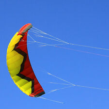 FREE POSTAGE 5m² Red Quad Lines Traction Power Kite / Kiteboard / Line and Bar