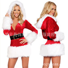 1 Set Sexy Women Santa Claus Christmas Costume Party Girls Outfit Fancy Dresses