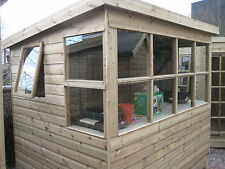 Garden potting shed built with pressure treated tanalised timber