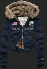Great Winter Abercrombie and Fitch United States Flag Navy Women Hoodies S/M/L