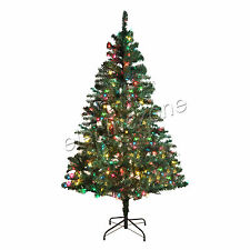 Pre-Lit 6ft/7ft Madison Pine Artificial Multiple color Christmas Tree