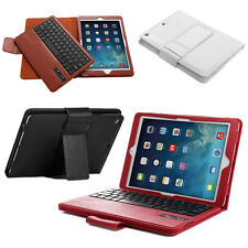 For Apple iPad Air 5th Gen Leather Case Cover with Detachable Bluetooth Keyboard