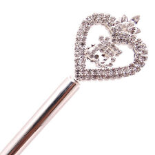 Sweet 15 Quinceanera Crystal Heart Queen Scepter Magic Wand Prom Quince 15 Gift