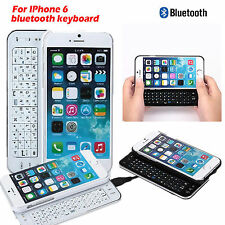 "Ultra Thin Slide Out Backlight Bluetooth Keyboard Case for iPhone 6 4.7"" BLK/WHT"