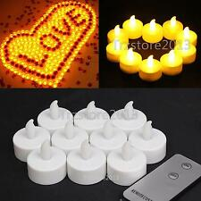 Yellow Flameless LED Wedding Tea Light Tealight Party Candle & Remote Control RC