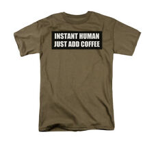 Instant Human Just Add Coffee Instructions Humorous Funny Saying Adult T-Shirt