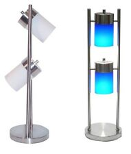 3031T 25-Inch 2-Light Adjustable Table Lamp White or Blue