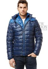 Buffalo Men's Winter Hooded Quilted Down Bubble Coat Puffer Jacket Whale & Blue