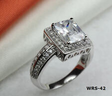 5.88 CT VINTAGE STYLE 925 STERLING SILVER ENGAGEMENT RING WEDDING RING WRS-42-MS