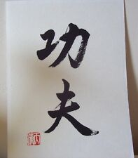 Kung Fu Scroll Chinese Calligraphy Hand Brushed ( Schriftrolle )