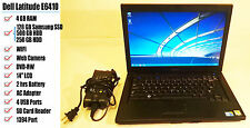 "Dell Latitude E6410 14"" i5 4GB 500GB HDD/SSD Win7&office2013 + 2 hours battery"