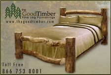 ASPEN Log Corral Bed Only $269 - Ships FREE - Rustic Cabin Beds, Furniture