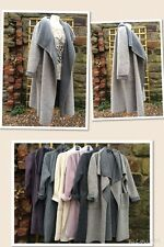 Lagenlook-Marl-Grey-Oversized Designer Wool-mix-Layering-Coat-Quirky-Fit-10-22uk