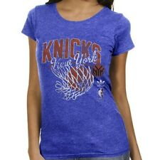 New York Knicks ADIDAS ORIGINALS Tri-Blend Blue Premium T Shirt Women's