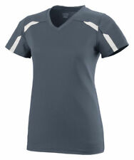 Augusta Sportswear Girls Moisture Wicking V Neck Avail Jersey T-Shirt. 1003