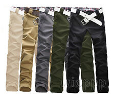 Hot Stylish Men Slim Fit Pencil Trousers Straight Long Pants Casual Skinny Pants