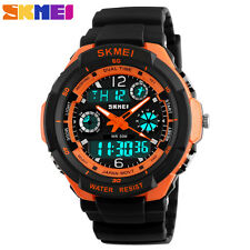 SKMEI Multi-Function Sport LED Analog Digital Waterproof Men Quartz Wrist Watch