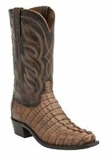 LUCCHESE MENS LANDON HORNBACK CAIMAN TAIL WESTERN BOOTS~M2691~