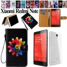 Folio Leather Stand Card Wallet Magnetic Cover Case For Xiaomi Redmi Hongmi Note
