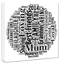 Personalised Word Art Canvas Word Typography