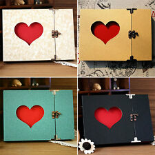 Vintage Hollowed Heart Love Shape Photo Image Album Scrapbook Diary Memory