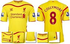 *14 / 15 - WARRIOR ; LIVERPOOL AWAY SHIRT SS + PATCHES / COLLYMORE 8 = SIZE*