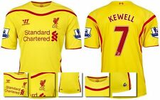 *14 / 15 - WARRIOR ; LIVERPOOL AWAY SHIRT SS + PATCHES / KEWELL 7 = SIZE*