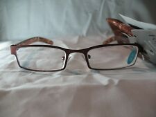 Foster Grant Bailey A Brown Rectangular Reading Glasses w/ Case +1.25 2.00 2.75