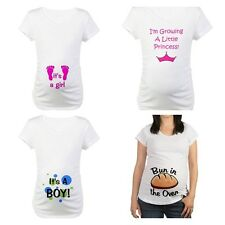 New Cafepress Maternity Its a Boy Its a Girl Princess Bun Tee Shirt S M L XL XXL