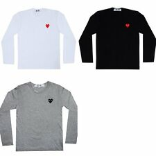 A COMME Des GARCONS CDG (11) PLAY RED HEART UNISEX LONG SLEEVE T- SHIRT Cotton.