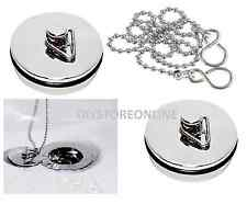 """1 1/2"""" or 1 3/4"""" Basin Kitchen Sink / Bath Plug Chrome or Chain sold separately"""