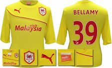 *13 / 14 - PUMA ; CARDIFF CITY AWAY SHIRT SS + PATCHES / BELLAMY 39 = SIZE*