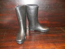 New Womens UGG Wilshire Logo Short Black Rain Winter Boots Rubber Sheepskin