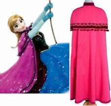 New Princess Anna Fuchsia Cape Girls Cosplay Cloak Adult Free Size