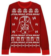 Adult Red Movie Star Wars Darth Vader Stormtroopers Ugly Christmas Sweater