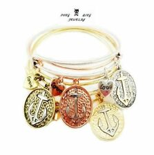 NEW hot beautiful fashion alex and ani anchor charms jewelry bracelet 4Colors