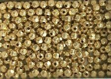 12K Gold Filled Beads, 3mm Faceted Round Beads, New