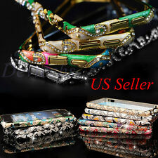 For iPhone 5 5S Luxury Bling Crystal Rhinestone Diamond Bumper Frame Case