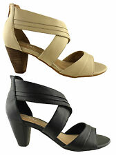 ZENSU DALLY LADIES/WOMENS LEATHER FASHION HEELS/SANDALS/SUMMER SHOES ON SALE