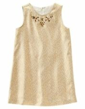 NEW Gymboree Christmas Brocade Gem Gold Dress SZ 4 5 6 7 HOLIDAY SHINE Dress