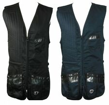 TOP GUN CLAYPRO COTTON CLAY PIGEON SKEET SHOOTING VEST NAVY OR BLACK MANY SIZES