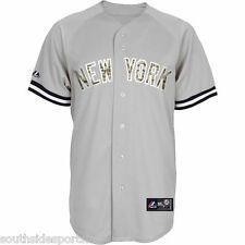 MARIANO RIVERA YOUTH CAMO GREY ROAD YANKEES JERSEY NEW MAJESTIC