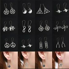 Unique Genuine Handmade Tibetan Silver Drop Dangle Earrings Stud Jewelry Charm